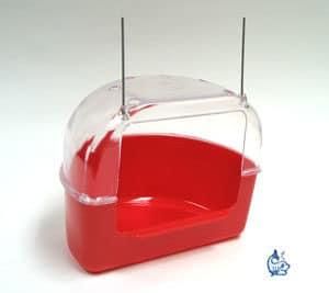 Akita Fågelbadkar rött