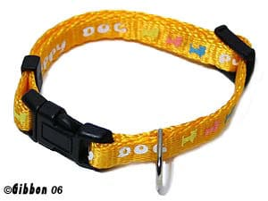 GB Valphalsband Happy Dog gult