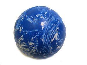 Massiv Gummiboll blå