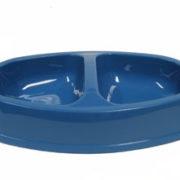 DM Plastskål dubbel oval M mellanblå