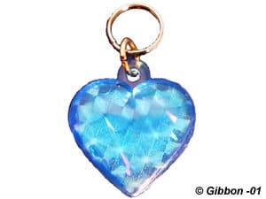Reflexhjärta blått