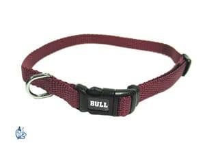 Bull Nylonhalsband 25/40 vinrött