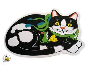 DM Matskålsunderlägg katt & mus