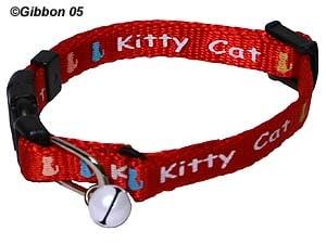 GB Halsband Kitty Cat rött