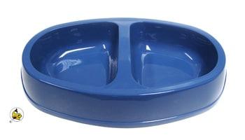 DM Plastskål dubbel oval L mellanblå